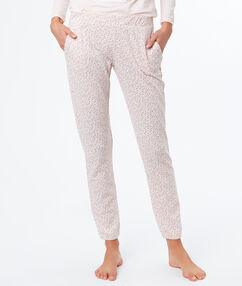 Printed trouser pink.