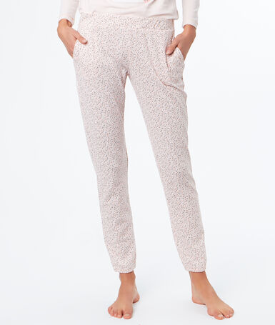 Printed trousers pink.