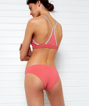 Simple bikini bottoms, silver details coral.