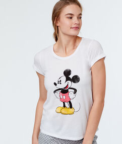 Printed t-shirt blanc.