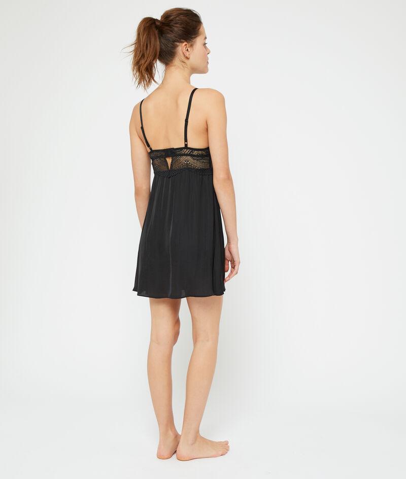 Lace top nightshirt;${refinementColor}