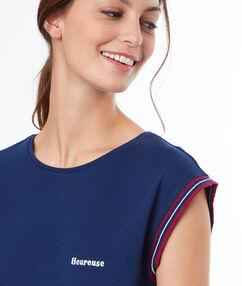 Zian - message t-shirt bleu.