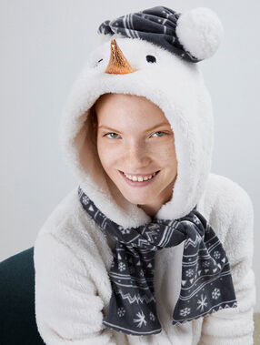 Snowman onesie ecru.