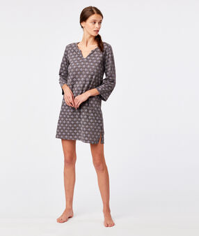 Ditsy print nightdress anthracite.