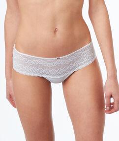 Lace and micro tanga white.