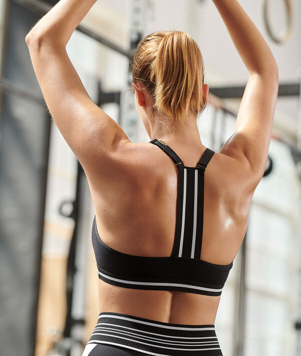 Racer back sports bra- medium support;${refinementColor}