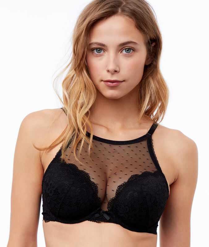 Bra no. 5 - lace padded bra black.