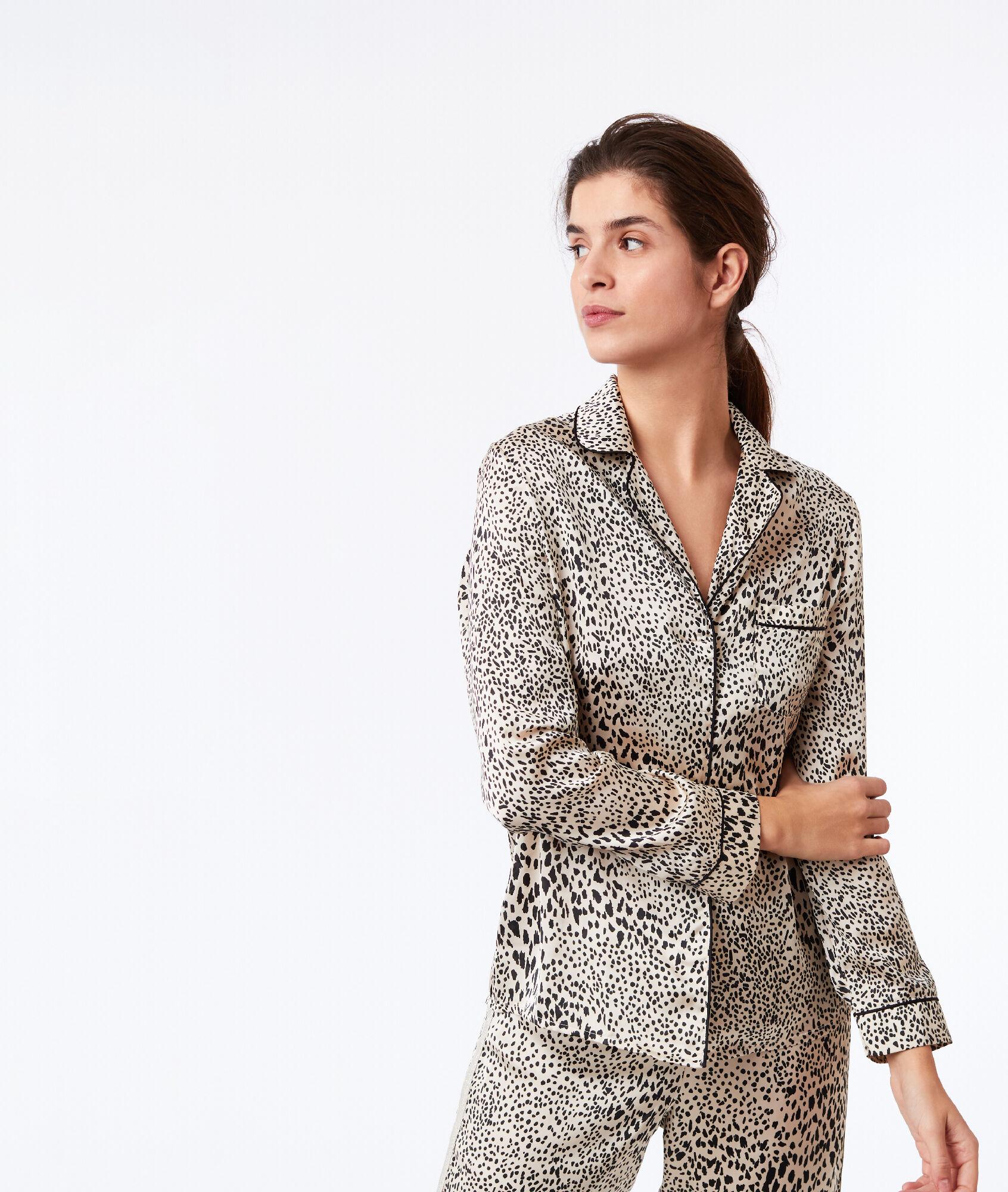 44d022155106 Leopard print pyjama shirt - Etam