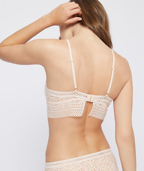 Bra n°4 - lace light padded bra, basque