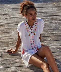 Beach tunic off-white.