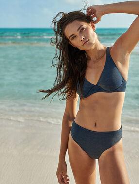 Bikini bottom night blue/iridescent.