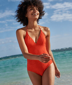 One piece swimsuit red.