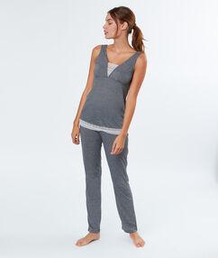 Two-piece pyjamas gray.