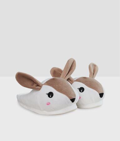 Bambi slippers beige.