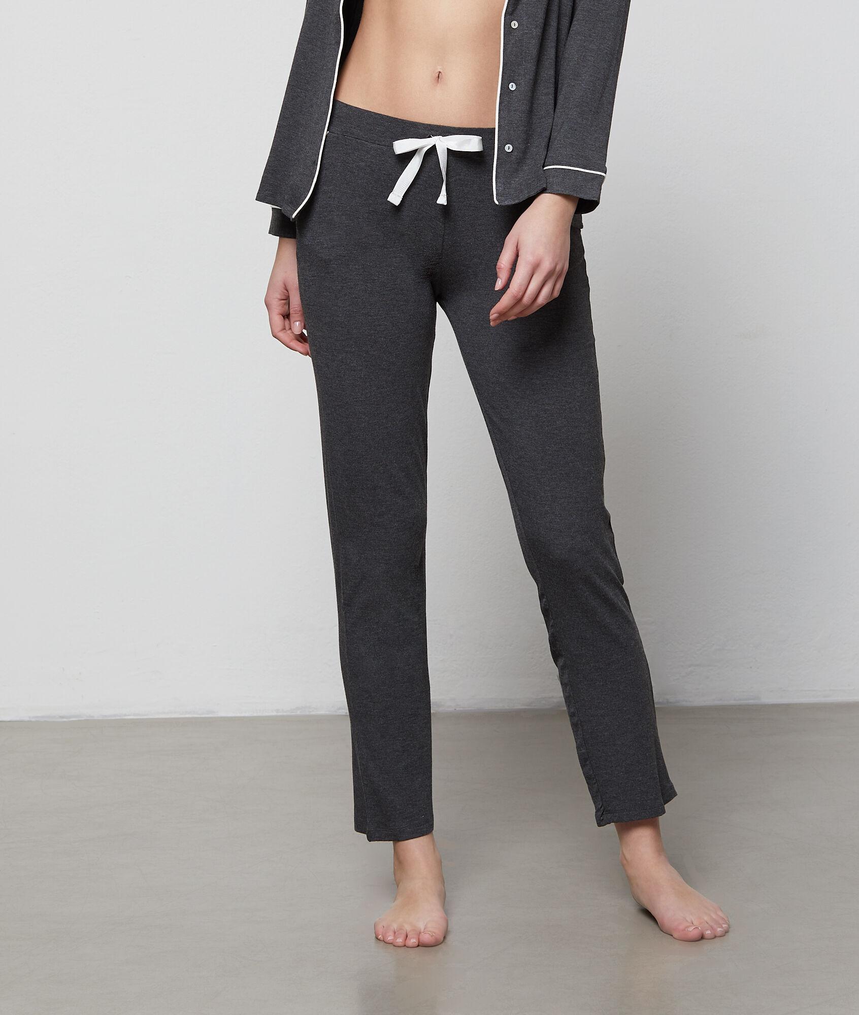 track pants emporio comfortable cotton fleece black s women armani tape casual comforter and bottoms