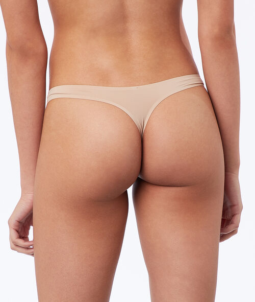 Tanga de microfibra liso