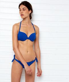 Bas de bikini brésilien - high leg bleu royal.