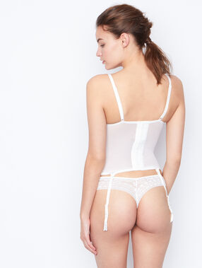 Lace corset off white.