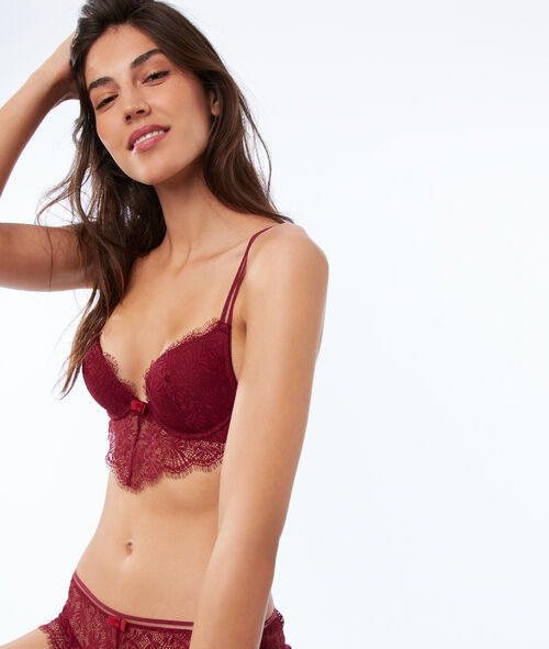 Bra No. 2 - lace plunging push-up bra, plunging basque