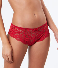 Lace shortys red.