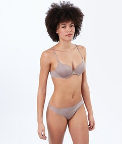 Micro padded demi cup beige.