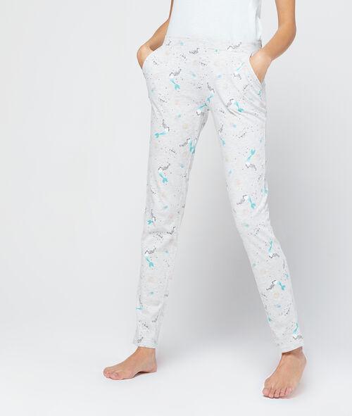 Pantalon imprimé sirène