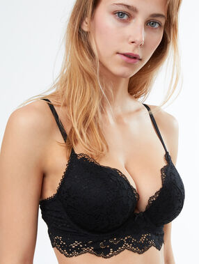 Bra no. 5 - classic padded lace bra black.