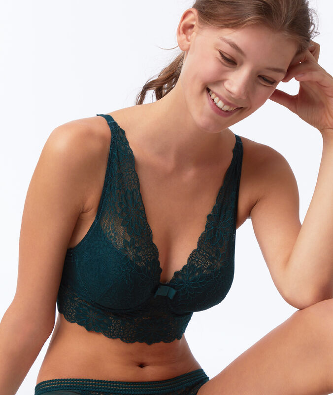 Bra no. 6 - lace padded bra with underbust band fir.
