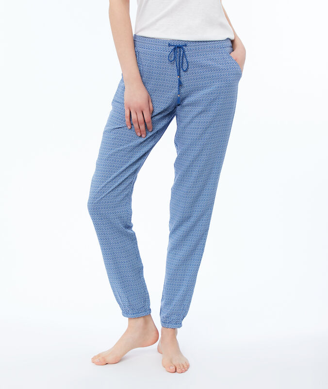 Printed trousers blue.