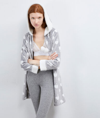 Homewear negligée gray.