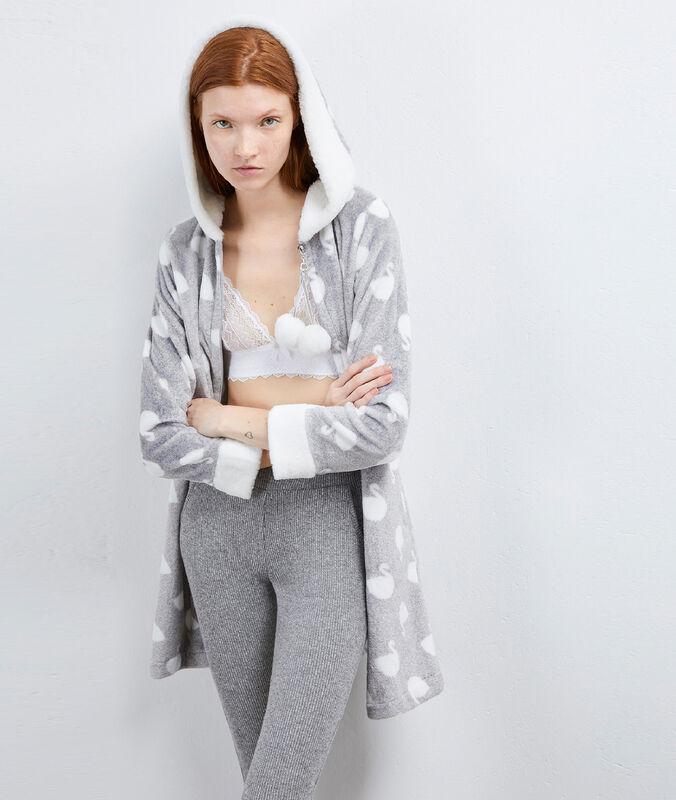 Homewear negligée gray.