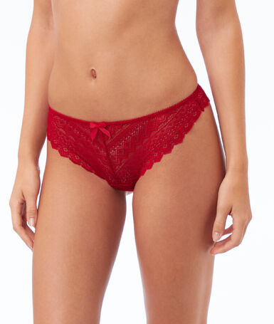 Lace thong red.