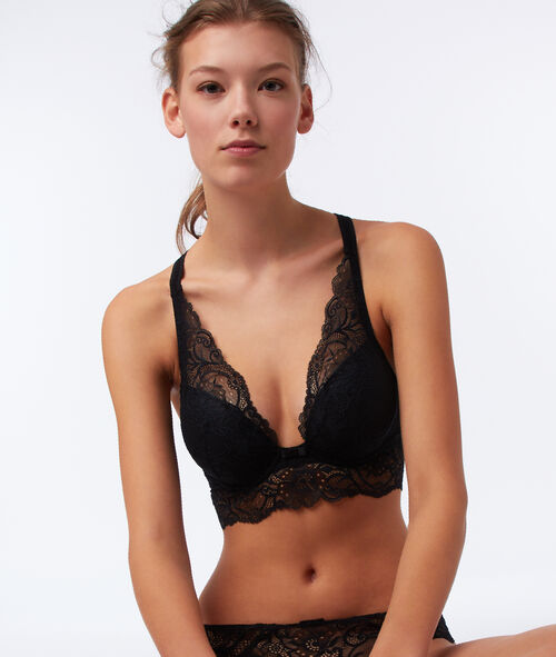 Bra no. 5 - classic padded lace bra with cross back