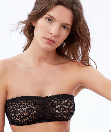 Lace bandeau black.