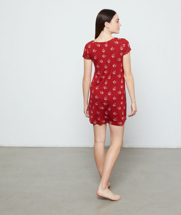 Printed nightshirt;${refinementColor}