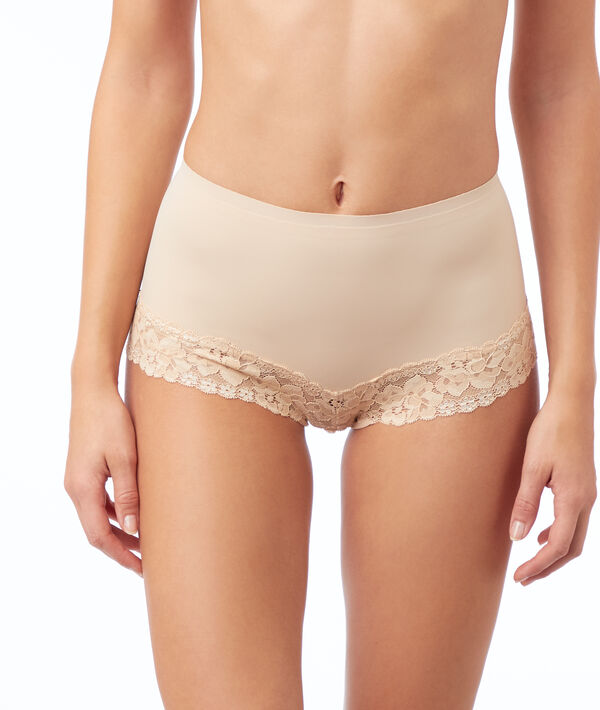 Lace high-waisted briefs - level 1 : shaped silhouette;${refinementColor}