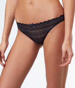 All-lace briefs anthracite.