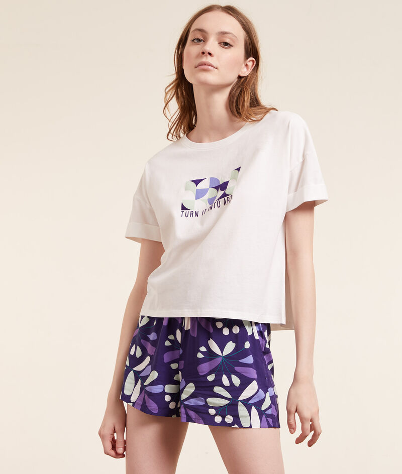 Short-sleeved 'turn it into art' top;${refinementColor}