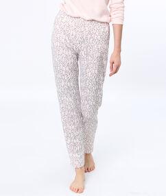 Message pyjama pants pink.