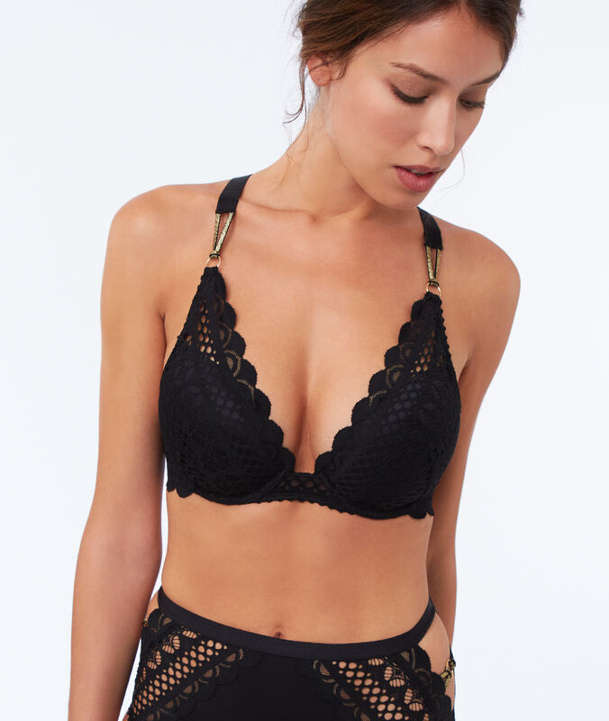 Bra no. 5 - lace padding black.