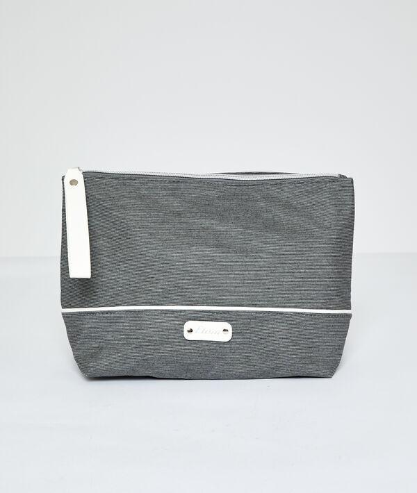 Striped toiletry bag ;${refinementColor}