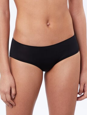 Micro shorts, thermal bound trim black.