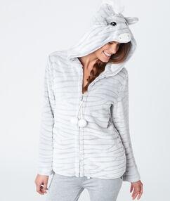 Zebra vest grey.
