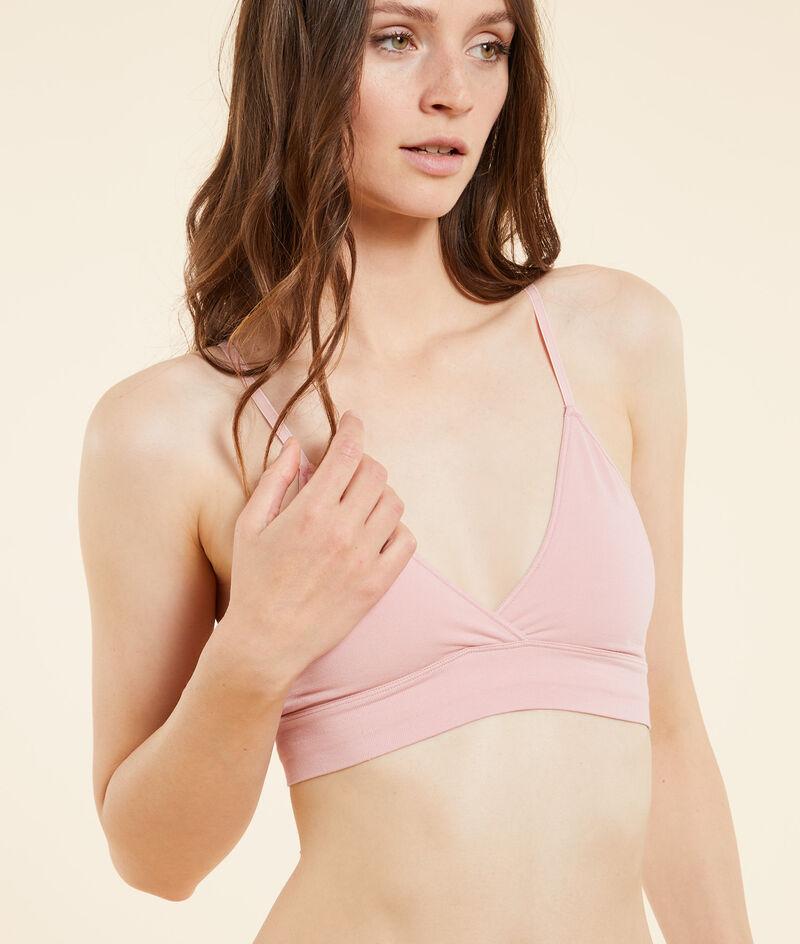 Ultra-comfortable cotton non-wired triangle bra;${refinementColor}