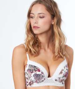 Padded demi cup bra off-white.