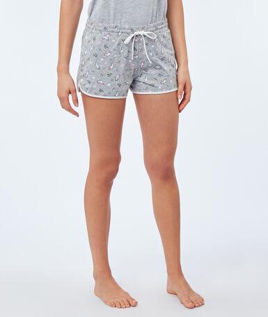 Unicorn print shorts gray.