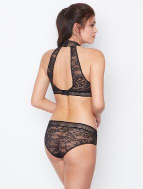Lace briefs black.