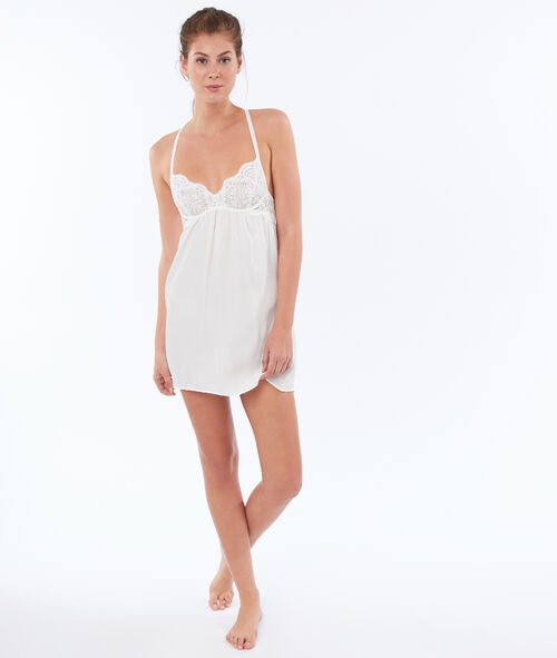 Nightie with lace padding, racer back