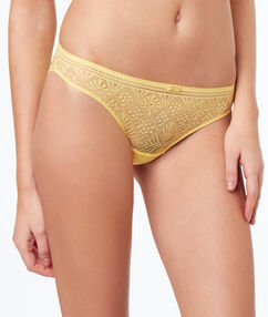 Lace briefs light yellow.