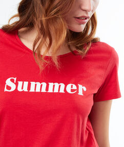 Message t-shirt red.